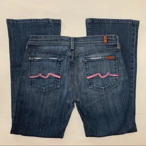 7 For All Mankind Flare with Pink Detail